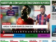 """Ngôi sao bóng đá - Turan tới Barca, báo chí Thổ Nhĩ Kỳ """"phát cuồng"""""""
