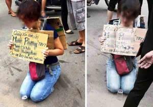 Tin tức trong ngày - Sự thật về người phụ nữ quỳ gối xin được bán trà đá nuôi con