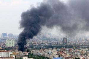 Tin tức trong ngày - Hà Nội: Kho phụ tùng công ty ô tô cháy lớn