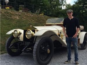 Ô tô - Xe máy - Quý tử nhà David Beckham tập lái xe bằng Rolls-Royce cổ