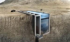 Chuyện lạ - Lạnh gáy với căn nhà dựng giữa vách núi cheo leo
