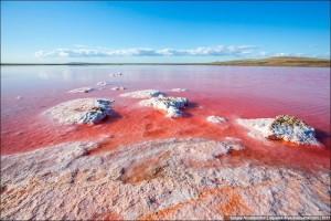 Du lịch - Tuyệt đẹp hồ muối hồng thơ mộng ở Ukraine