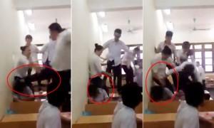 Tin tức trong ngày - Clip: Nhóm nam sinh đánh hội đồng dã man 1 nữ sinh