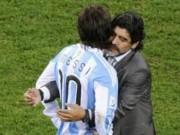 """Bóng đá - Maradona """"vừa đấm vừa xoa"""" truyền nhân Messi"""