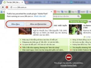 Thủ thuật Firefox: Cách kích hoạt flash khi bị chặn