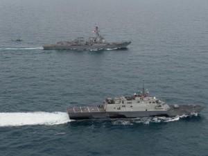 """Thế giới - Cặp """"song sát"""" Mỹ cùng tuần tra trên Biển Đông"""