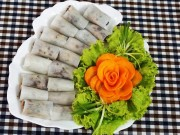 Ẩm thực - Ngon cơm với củ cải cuộn thịt hấp