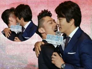 Hoắc Kiến Hoa thẹn thùng hôn Kwon Sang Woo