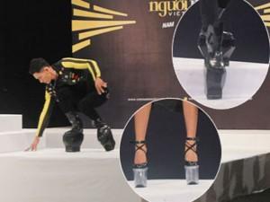Người mẫu - Hoa hậu - Thí sinh người mẫu toát mồ hôi vì giày cao 20cm