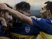 Video bóng đá hot - Đồng đội đón Tevez ra mắt Boca bằng rabona cực đẹp