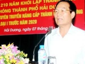Tin tức Việt Nam - Bí thư Thành ủy Hải Dương chính thức thôi chức