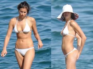 Thời trang - Irina Shayk mặc bikini gợi cảm, nhăn nhó vì nắng gắt