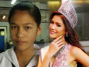 """Làm đẹp - Lộ ảnh cũ """"tố"""" tân hoa hậu Hoàn vũ Thái Lan """"dao kéo"""""""