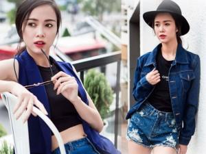 """Người mẫu - Hoa hậu - Vũ Ngọc Anh siêu sexy với quần ngắn, """"áo hở rốn"""""""