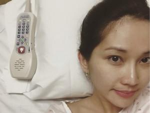 Kim Hiền nhập viện sinh con ở Mỹ