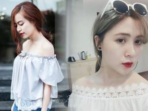 Thời trang - Chọn mua áo hở vai ngọt ngào như Hoàng Thùy Linh