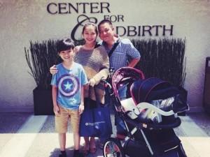 Kim Hiền xuất viện sau 2 ngày sinh con