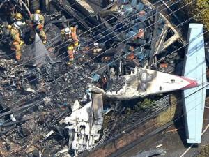 Thế giới - Máy bay rơi xuống khu dân cư giữa thủ đô Nhật Bản