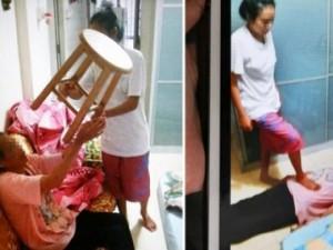 Bạn trẻ - Cuộc sống - Phẫn nộ con gái ngược đãi mẹ già chấn động Singapore