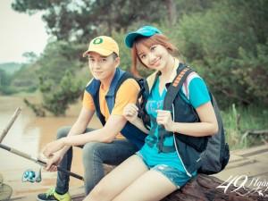Hậu trường phim - Hari Won nhí nhảnh đi câu cá cùng Ngô Kiến Huy