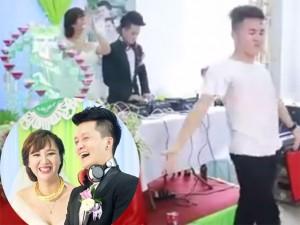 """Bạn trẻ - Cuộc sống - Cặp đôi Thanh Hóa """"quẩy"""" tưng bừng trong đám cưới"""