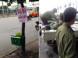 Tin tức Việt Nam - Công an phường tịch thu trà đá miễn phí cho người nghèo