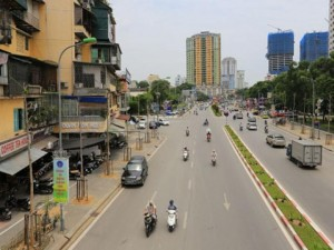 Tin tức trong ngày - HN thay thế hàng cây mới trồng trên đường Nguyễn Chí Thanh
