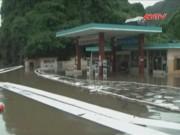Tin tức Việt Nam - Quảng Ninh: Xăng dầu tràn khỏi bể chứa do mưa lũ