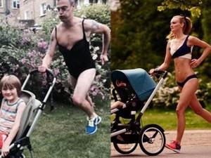 Người mẫu - Hoa hậu - Người mẫu mặc bikini đẩy xe khiến các bà mẹ nổi giận