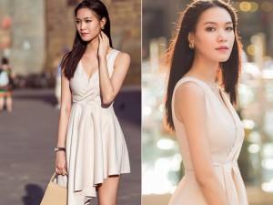Hoa hậu Thùy Dung đẹp ngỡ ngàng trên phố Italia