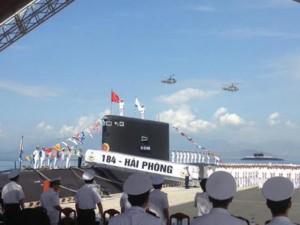 Tin tức trong ngày - Ảnh: Lễ thượng cờ 2 tàu ngầm 184-Hải Phòng và 185-Khánh Hòa