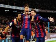 """Bóng đá Tây Ban Nha - """"Mũi đinh ba"""" Barca & mục tiêu mới: 140 bàn"""
