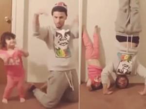 Bạn trẻ - Cuộc sống - Clip: Mê tít điệu nhảy của bố cùng con gái yêu