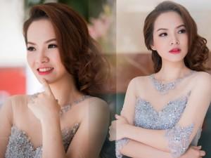 Váy - Đầm - Đan Lê đẹp hút hồn với váy xuyên thấu đính hạt