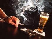Sức khỏe đời sống - Rượu, thuốc lá làm teo não, mất trí nhớ