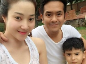 Ngôi sao điện ảnh - Hùng Thuận hạnh phúc bên vợ hotgirl và con trai