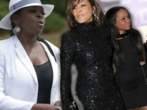 Tang lễ con gái Whitney Houston thành khẩu chiến gia đình