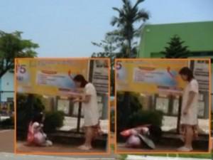 Bạn trẻ - Cuộc sống - Bé gái quỳ trên phố, dập đầu 20 lần xin mẹ tha thứ