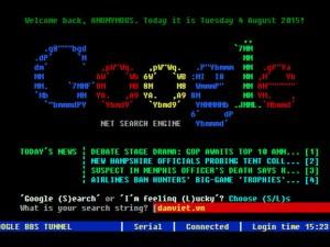 Thủ thuật - Tiện ích - Quay lại internet năm 1980 với Google phiên bản MS-DOS