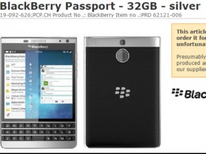 Lộ ảnh Blackberry Passport bạc với thiết kế lạ mắt