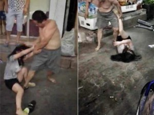 Bạn trẻ - Cuộc sống - TQ: Phẫn nộ ông bố hành hung con gái giữa phố