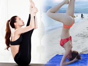Làm đẹp - Hồ Ngọc Hà điêu luyện tập yoga khoe dáng đẹp mỹ miều