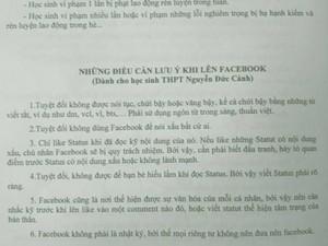 Bạn trẻ - Cuộc sống - Trường học ra nội quy cấm chửi bậy trên Facebook