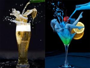 Bạn trẻ - Cuộc sống - Mẫu bodypainting hóa những ly cocktail ngọt ngào