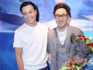 Lương Mạnh Hải bảnh bao đến chúc mừng Trung Quân Idol
