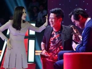 Lưu Hương Giang  đuổi  chồng khỏi ghế nóng The Voice Kids