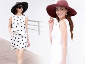 Người mẫu - Hoa hậu - Khánh My dịu dàng, nữ tính với họa tiết chấm bi