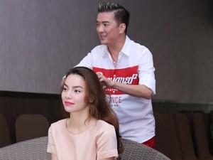 Sao ngoại-sao nội - Mr. Đàm tự tay làm tóc cho Hà Hồ