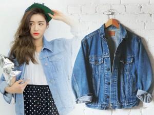 """Thời trang bốn mùa - Mua áo denim """"quá khổ"""" giống gái Hàn với 180 ngàn"""