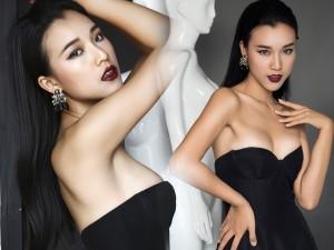 Thời trang - Á hậu Hoàng Oanh thử nghiệm với hình tượng gợi cảm